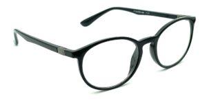 Sorte, runde, blanke og billige læsebriller