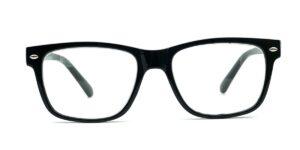Sorte, kantede, blanke og billige læsebriller