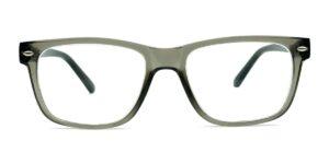 Grå, transparente, kantede, blanke, og billige læsebriller