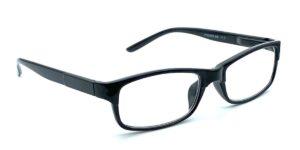 Sorte, smalle og billige læsebriller i plastik