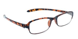 Brune, smalle og billige læsebriller i plastik
