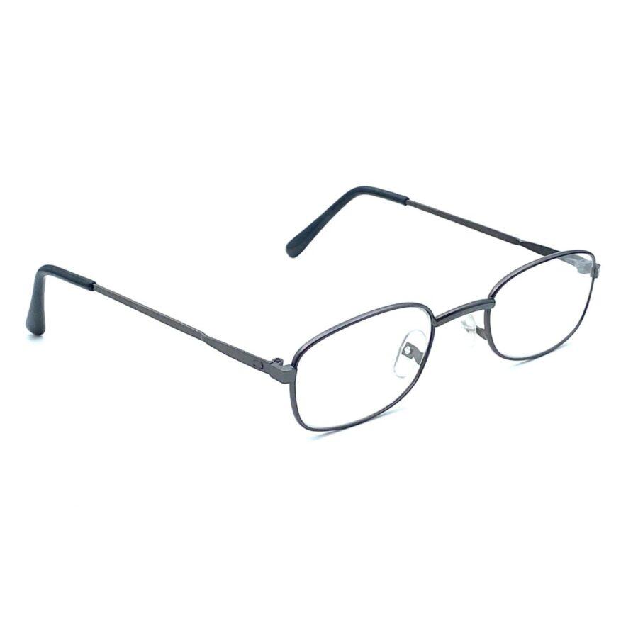 Sorte, klassiske og billige læsebriller i metal med næsepuder